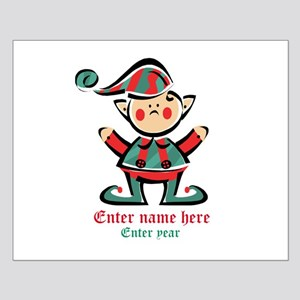Personalized Christmas Elf Small Poster