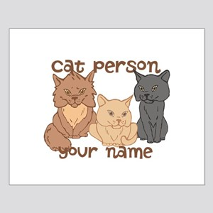 Personalized Cat Person Posters