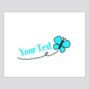 Personalizable Teal and Black Butterfly Posters