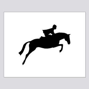 h/j horse & rider Small Poster