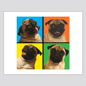 PUG SQUARES Small Poster