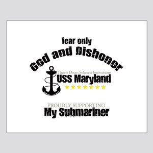 USS Maryland Small Poster