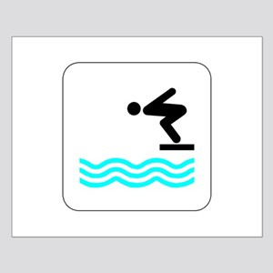 Diving Icon Small Poster