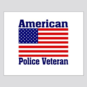 American Police Veterans Patriotic Flag Small Post
