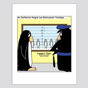 Penguin Police Lineup Small Poster