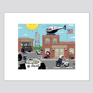 POLICE DEPARTMENT SCENE Small Poster
