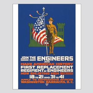 US Army Join the Engineers WWI Propa Small Poster