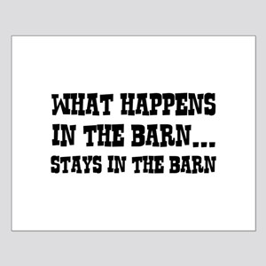 What Happens In The Barn Small Poster