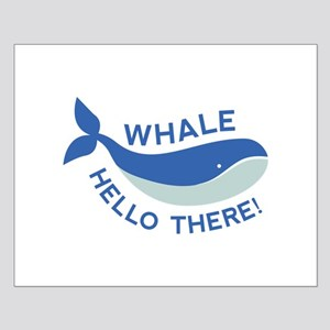 Whale Hello There! Small Poster