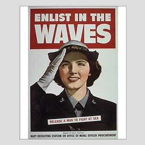 Enlist in the Waves Small Poster