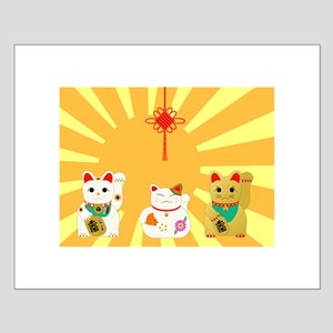 Lucky Cats Small Poster