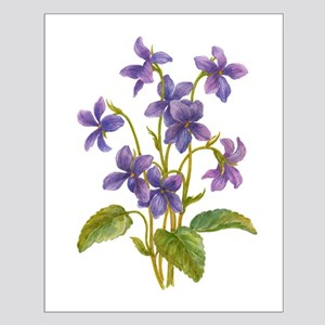 Purple Violets Small Poster