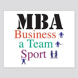 MBA Team Sport Small Poster
