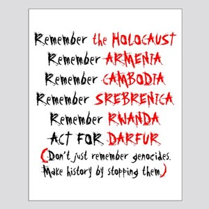 Activist, Anti-Genocide Small Poster
