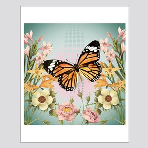 Modern Vintage Monarch butterfly Posters