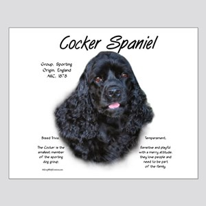 Cocker Spaniel (black) Small Poster