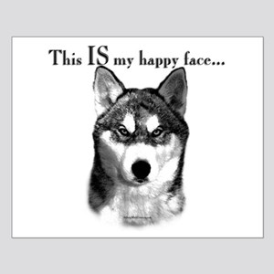 Husky Happy Face Small Poster