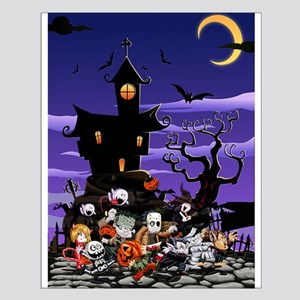 Kids Halloweening Small Poster