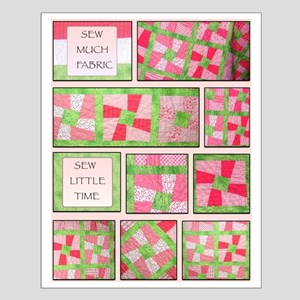 Maxines Quilt Pink 2 Small Poster