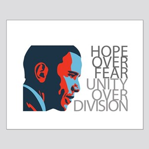 Obama - Red & Blue Small Poster