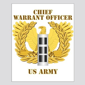 Army - Emblem - Warrant Officer CW3 Small Poster