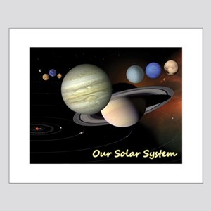 Earth's Solar System + Pluto's Heart Small Poster