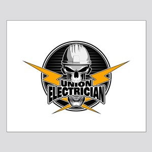 Union Electrician Skull Posters