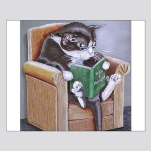 Reading Cat Small Poster
