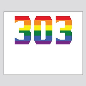 Gay Pride 303 Denver Area Code Posters