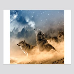 Wolves During Winter Poster Design