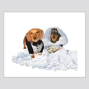 Wedding Dachshunds Dogs Small Poster