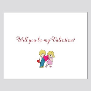 Will you be my Valentine Small Poster