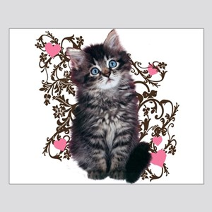 Cute Blue-eyed Tabby Cat Small Poster