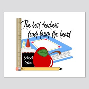 Teach From Heart Small Poster