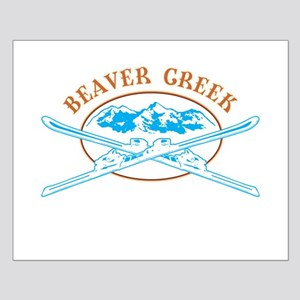 Beaver Creek Crossed-Skis Badge Small Poster