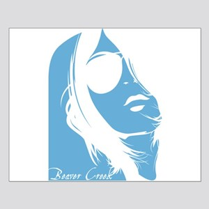 Beaver Creek Lady Silhouette Small Poster