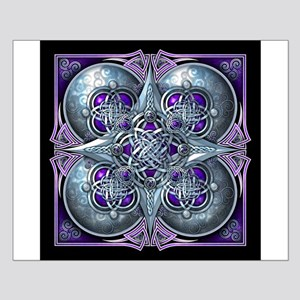 Silver & Purple Celtic Tapestry Small Poster