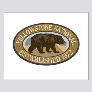 Yellowstone Brown Bear Badge Small Poster