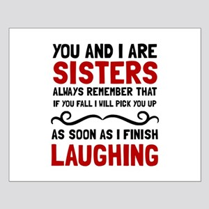 Sisters Laughing Posters