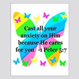 1 PETER 5:7 Small Poster