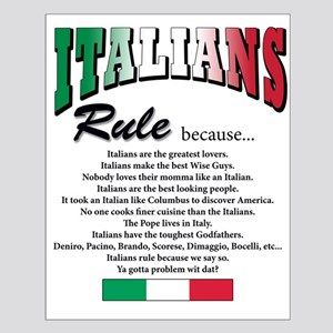 Italians Rules Small Poster