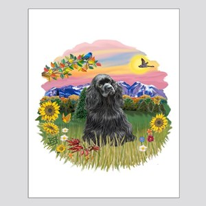 Mt. Country-Black Cocker Small Poster