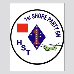 USMC - 1st Shore Party Battalion Small Poster