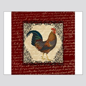 Red Vintage Rooster Posters Small Poster