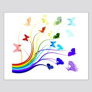 Butterflies and Rainbows Small Poster