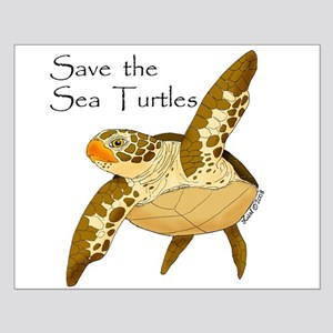 Save Sea Turtles Small Poster