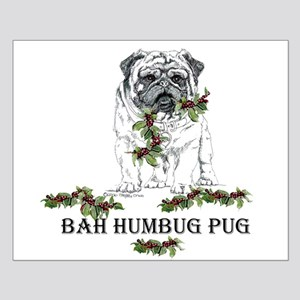 Christmas Pug Holiday Dog Small Poster