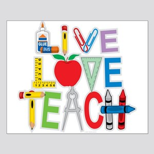 Live Love Teach Small Poster