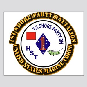 USMC - 1st Shore Party Battalion with Text Small P