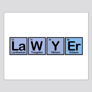 Lawyer made of Elements Small Poster